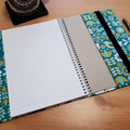 Bird Garden A5 Fabric Journal Cover with Elastic Closure