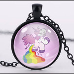 :: CLEARANCE :: POOPING UNICORN PENDANT