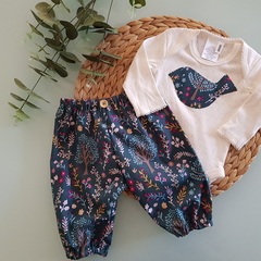 Girls Little Birdie Harem Pants Set