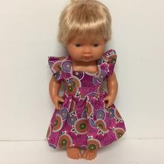 Miniland Dolls Ruffled Sleeve Dress to fit 38cm Dolls