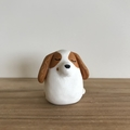 Commission dog clay sculpture