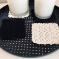Set of 4 Crochet cup glass coasters | Eco cotton | Kitchen Decor