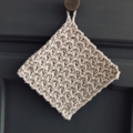 Crochet Eco Cotton Dishcloth   Potholder   Reusable Cloth   Farmhouse
