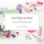 Stock Photo Bundle - Cotton & Pins