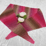 Pink and Brown Blend Triangular Scarf