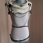 Tea-dyed Asymmetrical Collar Blouse Tailor-Made