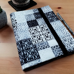Palermo Grey A5 Journal Cover with Elastic Closure