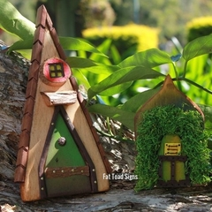 Tall and Small Handmade Rustic Fairy Doors