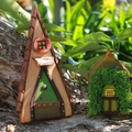 Tall and Small Handmade Rustic Fairy Doors