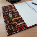 Coffee Lovers A5 Notebook Cover with Elastic Closure