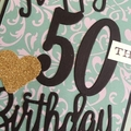 Happy 50th Birthday Handmade Card - FREE POST