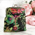 Floral leaf coin purse / wristlet - Liberty London Tresco fabric
