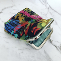 Floral leaf coin purse / wristlet - Liberty London Tresco fabric