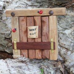 Rustic 'Keep Out' Wilderness Troll/Fairy Door
