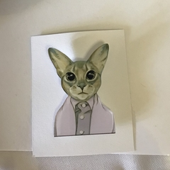 Acrylic Cat Brooch