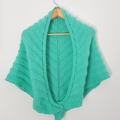 Cool lime shawl