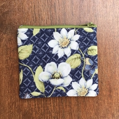 Coin Purse - Blue/White floral