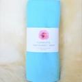 Flannelette baby blanket / wrap - neutral