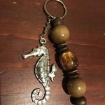 Wooden Bead Keyring