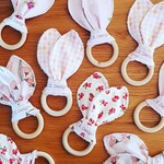 Wooden baby teether rings