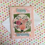 'Happy Birthday' Pink Florals Card