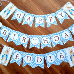 Peter Rabbit Happy Birthday Bunting Set Custom Handmade