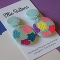 Bold florals- polymer clay earrings