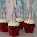 Peter Rabbit Birthday Custom Handmade Cupcake Toppers