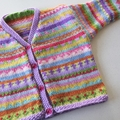 Red Sheep Cardigan - Size 3-4 years- Hand knitted
