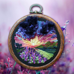 Summer Fields Hand embroidery in Hoop