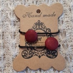 Hairband / Elastic - State of Origin Maroon / fabric covered button (19mm)