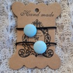 Hairband / Elastic - State of Origin Blues / fabric covered button (19mm)