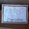 Congratulations Stampin Up Country Floral Embossed Handmade Card