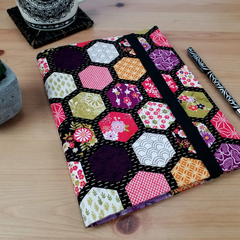 Japanese Hexagon A5 Notebook Cover with Elastic Closure
