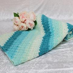 Gradient Aqua Corner to Corner Blanket