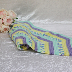 Aqua, Purple, Yellow and Variegated Star Blanket