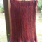 red and blue mix sideways skirt - pure wool. Hand knit and crochet. ON SALE!!!