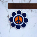 Flower Peace Boho Embroidered Iron On Patch