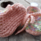 """crochet baby shoes """"dancing feet"""" cotton and acrylic yarns 10-11cm foot."""