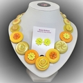 Yellow Button necklace - Sunny Days