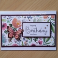 Happy Birthday Stampin Up Frosted Floral Handmade Card