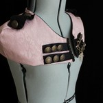 Pink & Black Steam Procession Capelet Tailor-Made