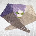 Brown and Purple Gradient Triangular Scarf