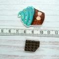 Blueberry and Chocolate Cupcake Magnetic Needle Minder, Needle Nanny, Cross Stit