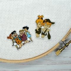 Interchangeable Flintstones Magnetic Needle Minder, Needle Nanny, Cross Stitch,