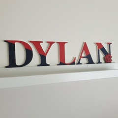 Name Plaque for Wall or Door.  AFL Football Themed. 9cm. 5 letters