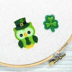 St Patrick's Day Owl Magnetic Needle Minder, Needle Nanny, Cross Stitch, Embroid