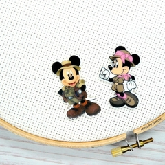 Interchangeable Mickey & Minnie Magnetic Needle Minder, Needle Nanny, Cross Stit