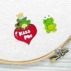Prince Charming Frog Magnetic Needle Minder, Needle Nanny, Cross Stitch, Embroid