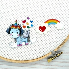 Interchangeable Rainbow Unicorn Magnetic Needle Minder, Needle Nanny, Cross Stit